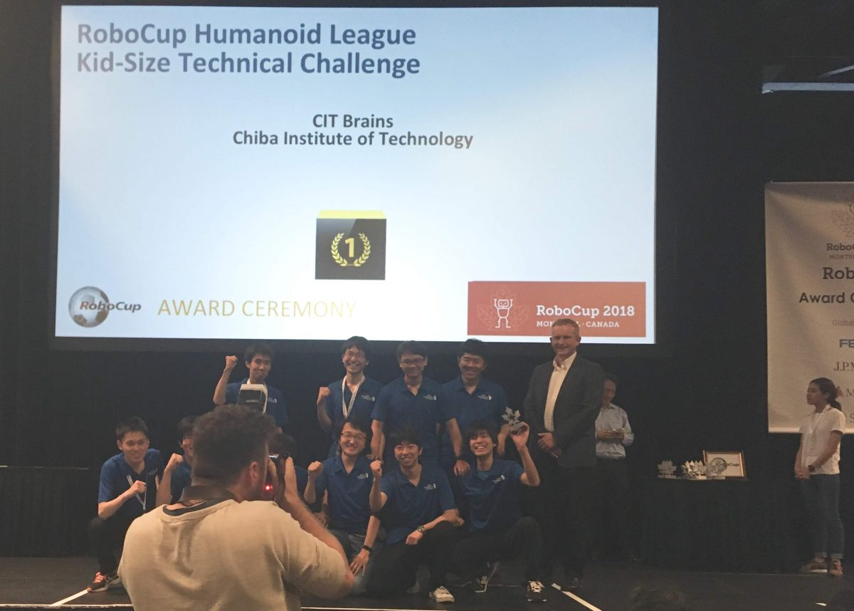 RoboCup Humanoid leagueのKidSize Technical ChallengeでCIT Brainsが7連覇